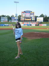 Photo: Kasey Getting Ready to throw out the first pitch at 2007 Lakewood BlueClaws fundraising event.