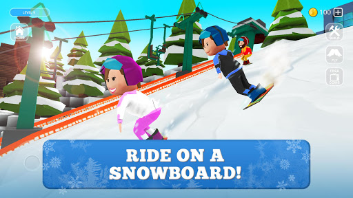 Snowboard Craft: Freeski, Sled Simulator Games 3D 1.7-minApi23 screenshots 2