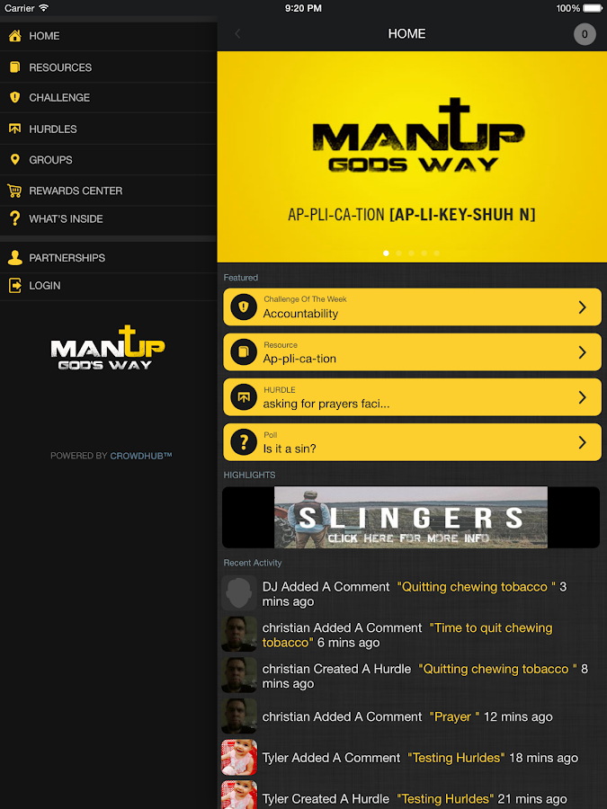 Man Up Leadership- screenshot