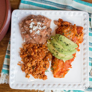 Slow Cooker Red Chicken Enchiladas