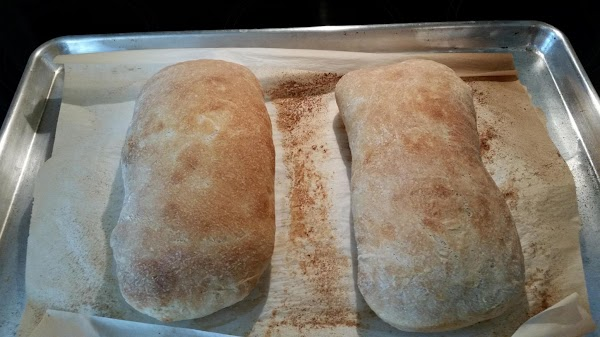MY HOMEMADE CIABATTA BREAD SUPER YUMMY :}