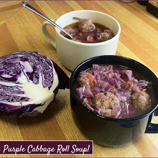 Katie's Purple Cabbage Roll Soup