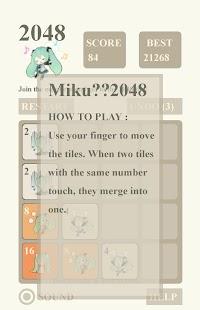 Mikuの2048 - náhled