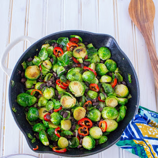Brussels Sprouts with Chili + Black Beans.