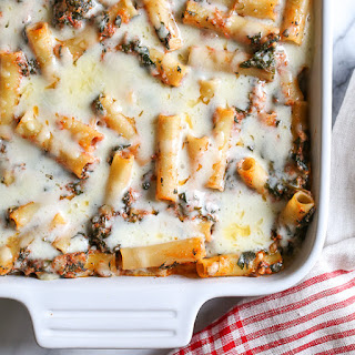 Baked Ziti with Spinach.