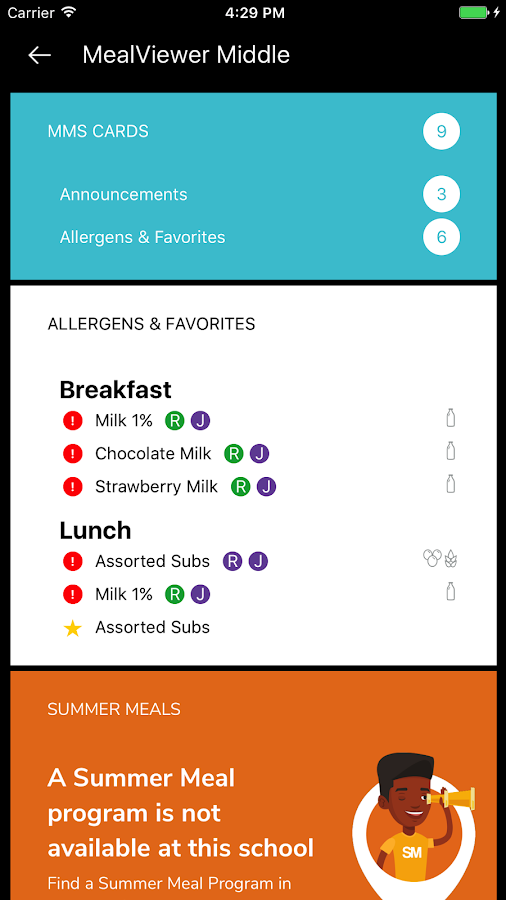 MealViewer To Go- screenshot
