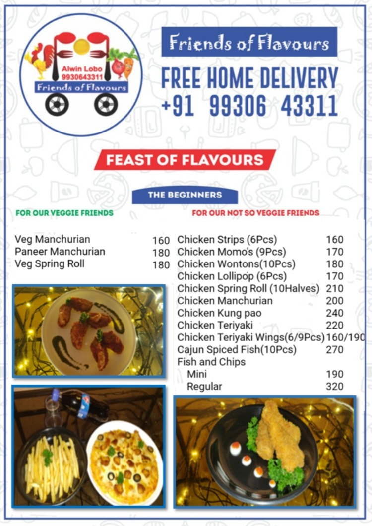 Friends Of Flavours menu 1