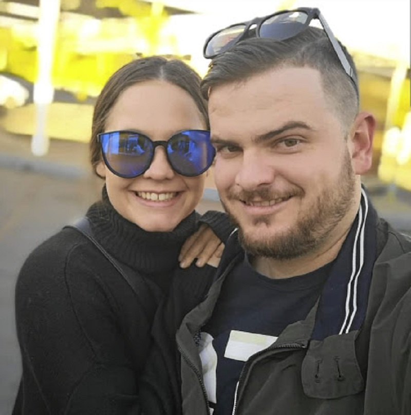 DJ Ankletap and his fiancée Natasha Bishop.