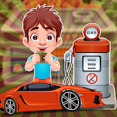 Gas Station Cashier - kids car washing games
