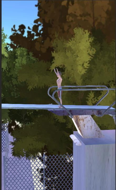 Diving pool flip- screenshot