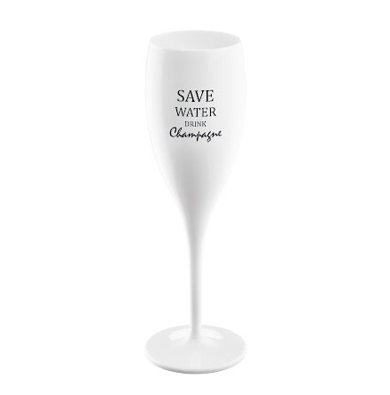 Champagneglas med print 6-pack, Save water drink champagne