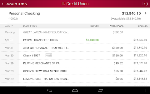 IU Credit Union Mobile Banking screenshot 6