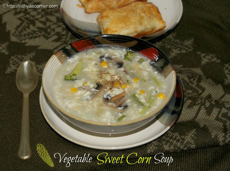 Sweet corn vegetable soup, Sweet corn soup recipe