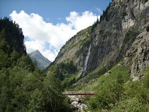 """Photo: Die """"lange Brücke"""" über die Nassfelder Ache vor dem Schleierfall"""