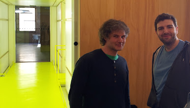 Photo: Ale Rimoldi ( organisator, Libre Graphic advocate and Scribus dev ) and me