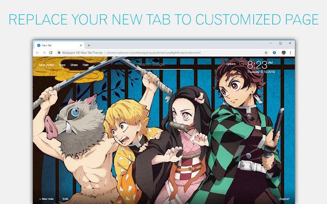Kimetsu No Yaiba Wallpaper HD Custom New Tab