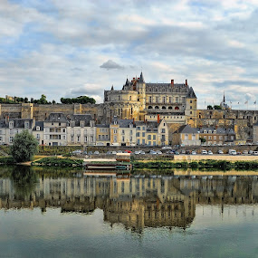 The royal Château d'Amboise Loire River, Amboise France  by Lanis Rossi - City,  Street & Park  Skylines