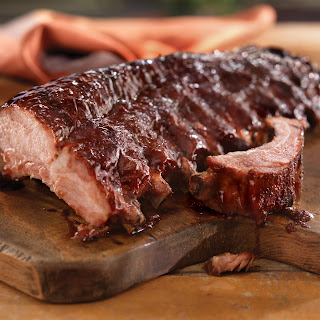 Mediterranean Back Ribs with Pomegranate Sauce.