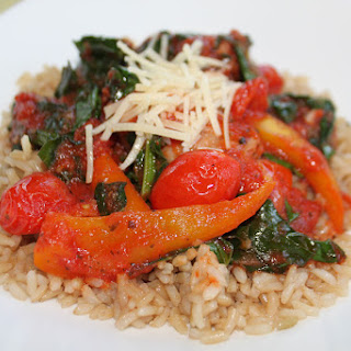 Sausage Peppers and Broccoli Leaves