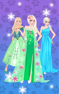 ❄ Icy dressup ❄ Frozen land - náhled