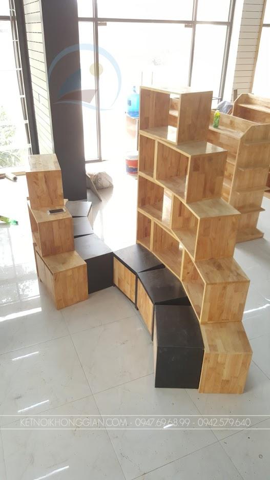thiết kế thi công nhà sách thanh hải 12