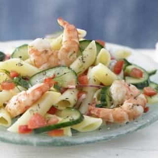 Warm Pasta and Cucumber Salad