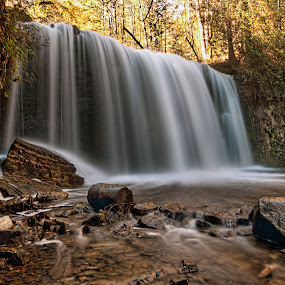 Hoggs Falls.  by Carl Chalupa - Landscapes Waterscapes ( hoggs falls, hoggs,  )