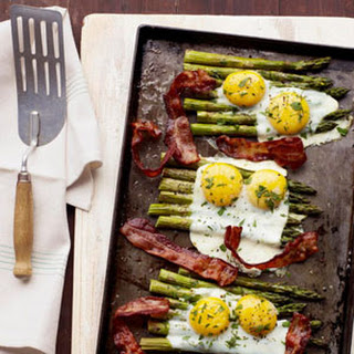 Bacon and Eggs Over Asparagus