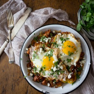 Spiced Chorizo and Plantain Breakfast Hash