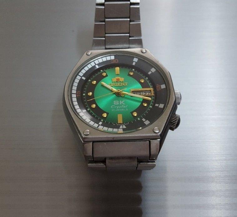 Đồng hồ SK mặt xanh viền đen huyền thoại chính hãng giá rẻ