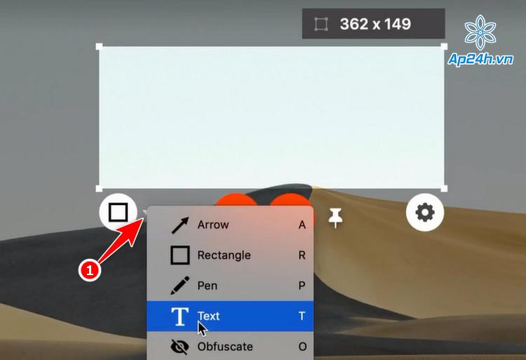 Sử dụng các công cụ chèn chữ, mũi tên để chú thích