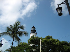 Photo: Key West lighthouse is located at the highest point on the island, just across the street from Hemingway's house. In the past, this was the only place above water during severe hurricanes.