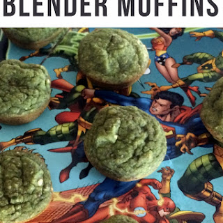 Incredible Hulk Mini Blender Muffins.