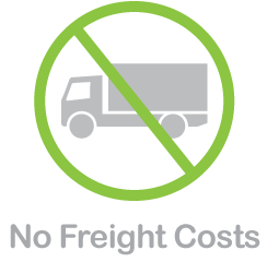 No Freight Costs