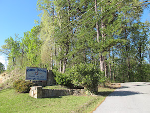 Photo: Camp Toccoa sign as seen from Hwy 17/Falls Road