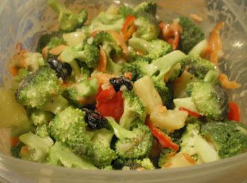 Broccoli Pineapple Salad With Orange Dressing Recipe