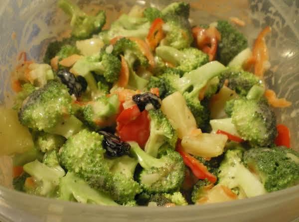 Broccoli Pineapple Salad With Orange Dressing