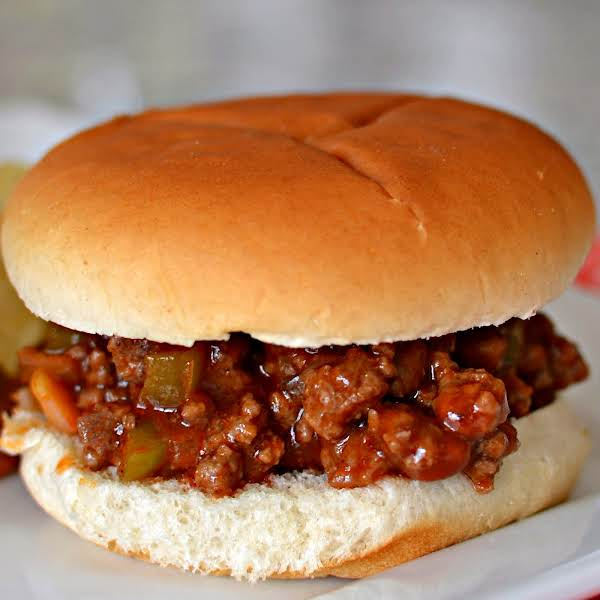 Delectable Family Friendly Easy Weeknight Homemade Sloppy Joes Made With Many Common Pantry Ingredients.  The Recipe Requires Limited Hands On Time And Is Ready In Under 30 Minutes.