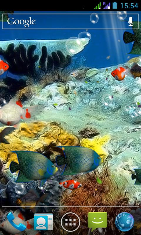 Aquarium 3d live wallpaper android apps on google play for Live fish store