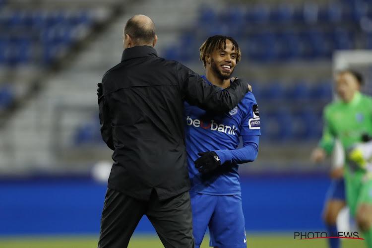 """Theo Bongonda grote man met twee doelpunten bij Racing Genk, maar: """"We moesten bij rust wat bijschakelen"""""""