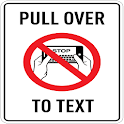 PULL OVER TO TEXT ® Free icon