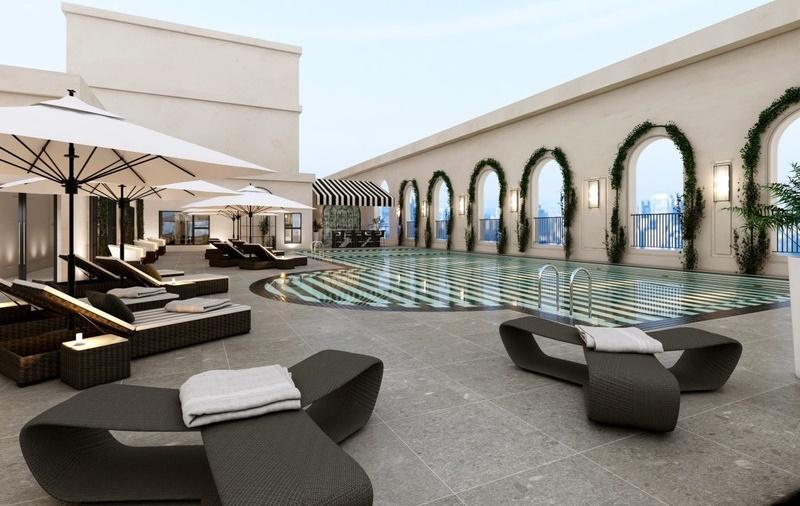 Khu bể bơi king palace