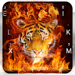 Fire Tiger Keyboard Theme Icon