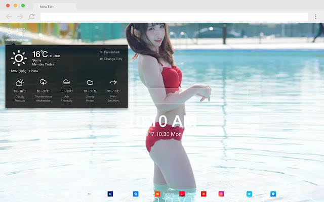 Need for popular photo HD New tab page Theme