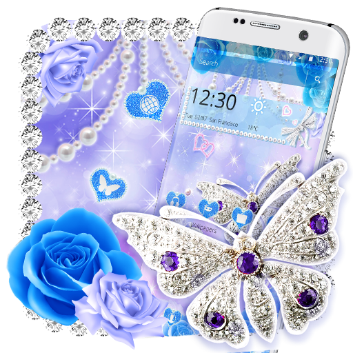 Crystal Diamond Butterfly Theme