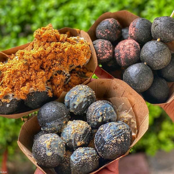 審計新村「黑心地瓜球」這個超黑心!高達七種口味變化,你敢來嚐鮮嗎?! 台中美食 旅遊 