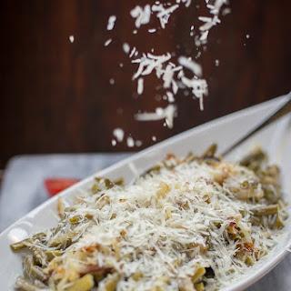 Creamy Garlic Parmesan Green Beans Recipe
