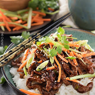 30 Minute Spicy Ginger Szechuan Beef.