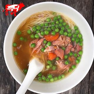Pea & Ham Hock Noodle Soup
