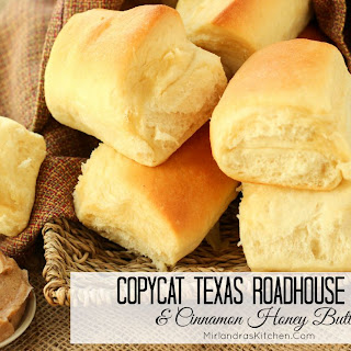 Copycat Texas Roadhouse Dinner Rolls and Cinnamon Honey Butter.